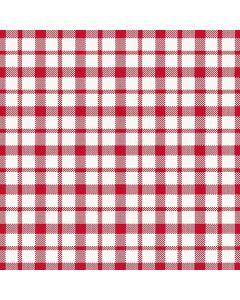 Dunilin 40x40 Giovanni rød/hvid tern - 50stk