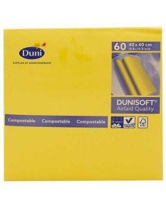 Dunisoft serviet 40x40cm 60stk - Gul