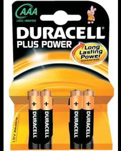 Duracell batterier - AAA - 4 stk