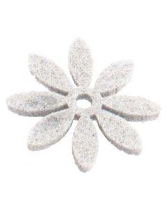 Filtblomst Ø3cm 18stk - Hvid