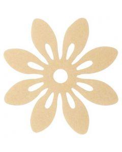 Blomst filt Ø12cm 6stk - Pudder