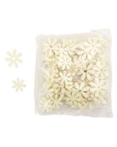 Blomst filt 72stk - Creme