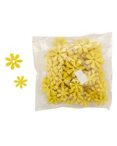 Blomst filt 72stk - Gul