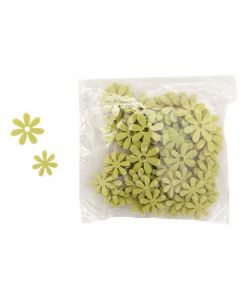 Blomst filt 72stk - Lysegrøn