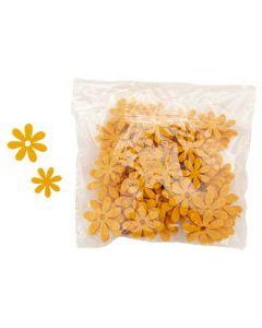 Blomst filt 72stk - Orange
