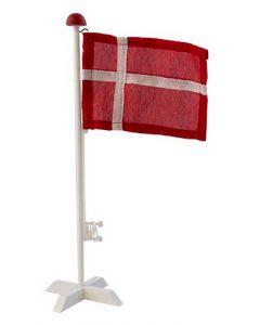 Flag i træ med fod - Dannebrog