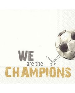 IHR Frokostserviet 33x33cm 20stk - We Are the Champions gold