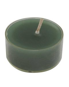 Fyrfadslys 16stk 4 timer - Mørk grøn