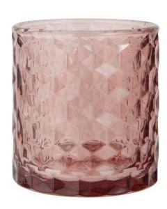 Fyrfadsstage glas Ø7cm - Malva