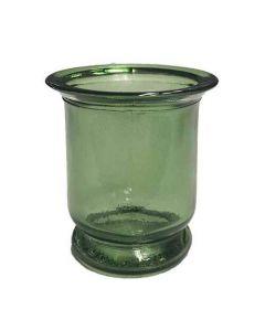 Fyrfadsstage Glas Ø6cm Grøn