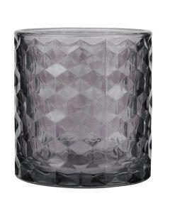 Fyrfadsstage glas Ø7cm - Lavender