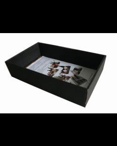 Gaveæske bølgepap 33x21x7,5cm - Sort