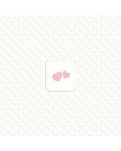 Giorno Festivo hearts rosa 33x33 3-lags - 16 stk