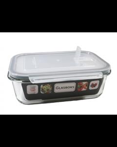 Opbevaringsboks i glas m/låg - 1500ml