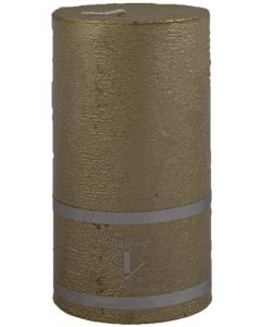 Rustik Bloklys 7x8,5 cm - guld
