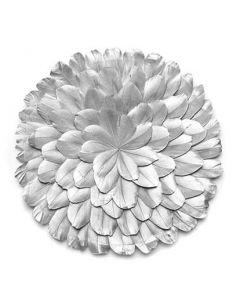 Juju Rosette fjer Ø25cm - Sølv