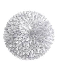Juju Rosette fjer Ø40cm - Sølv