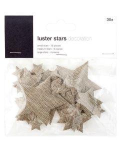 Stjerner 30stk - Brun
