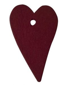 Hjerte i træ - Bordeaux