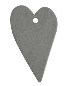 Hjerte i træ - Grå