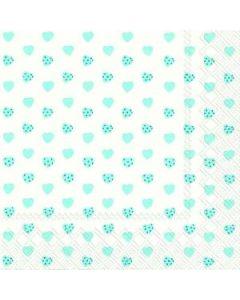 IHR My Little Sweetheart blue frokost serviet 33x33 cm  - 20 stk