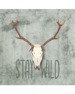 IHR Stay Wild 24x24cm serviet 20stk