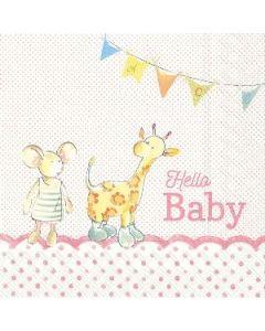 IHR Hello Baby Light rose 33x33 serviet 20stk