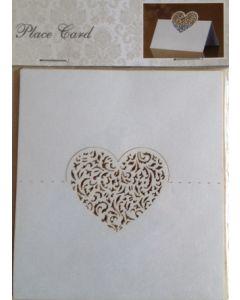 Bordkort  - 10 stk - med hjerte
