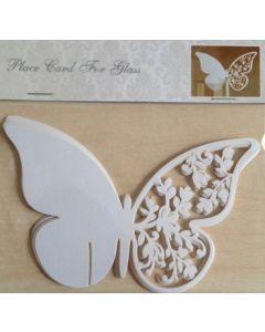 Bordkort  - 10 stk - med sommerfugl