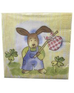 Finess Frokostserviet 33x33cm 20stk - Easter Rabbit