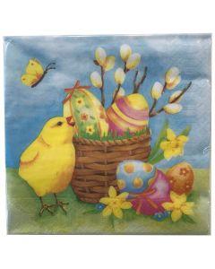 Finess Frokostserviet 33x33cm 20stk - Easter Basket