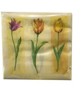 Finess Frokostserviet 33x33cm 20stk - Tulips