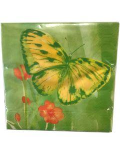 Finess Frokostserviet 33x33cm 20stk - Butterfly
