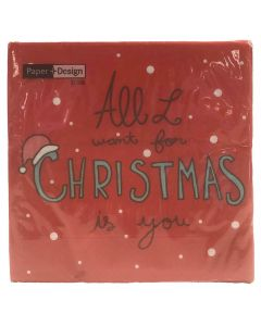 Duni frokostserviet 33x33cm You for xmas 3-lags 20stk