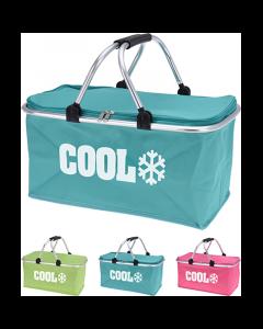 Ensfarvet køletaske m/håndtag - 28 liter