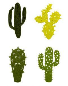 Kaktus filt 16stk - Grøn