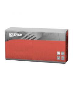Katrin Servietter 40x40cm 3-lags 250stk - Rød