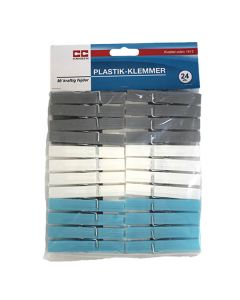 Plast tøjklemmer - 24 stk