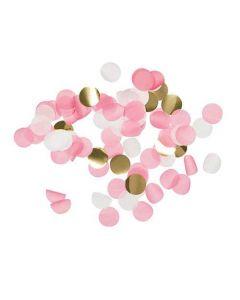 Konfetti mix Ø2,5cm - Pink/Hvid/Guld