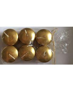 Kuvertlys 6 stk - Guld