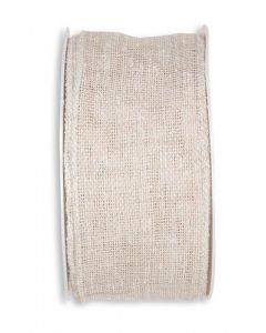 Linen Look bånd 5cm x 8m - Sand
