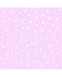Sovie serviet 40x40 12stk - Rabbits Rosa