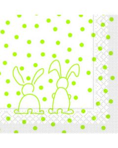 Sovie 33x33 3-lags 20stk serviet - Rabbits Kiwi
