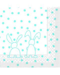 Sovie 33x33 3-lags 20stk serviet - Rabbits Turkis