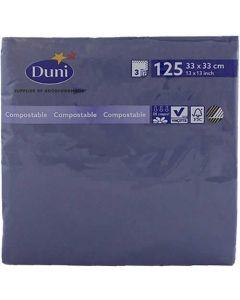 Duni serviet 33x33cm 3-lags 125stk - mørkeblå
