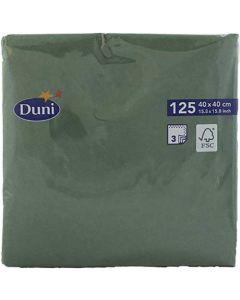 Duni servietter 40x40cm 125stk Mørkegrøn