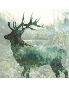 IHR Frokostserviet 33x33cm 3-lags 20stk - Magic Deer