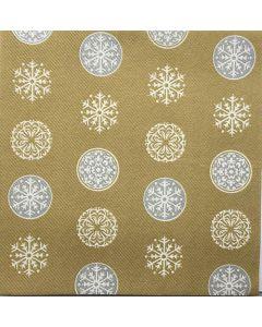 Sovie home tekstil serviet  - Flocons guld/sølv 40x40cm 12 stk
