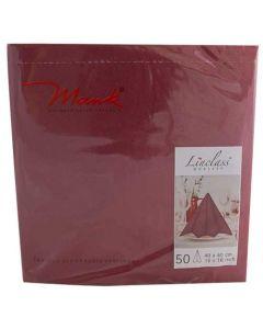 Mank stofligende serviet - 40x40 cm - 50 stk Bordeaux