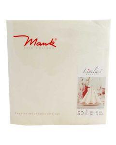 Mank stofligende serviet - 40x40 cm - 50 stk Cream